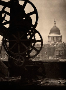 St. Paul's and Cogs by Alvin Langdon Coburn