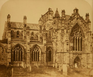 Melrose Abbey by Roger Fenton